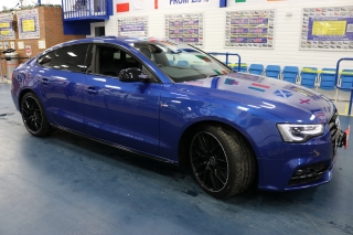 Click to view details about AUDI A5 S LINE BLACK EDITION 2.0TDI 190BHP (EURO 6) 4 DOOR SALOON