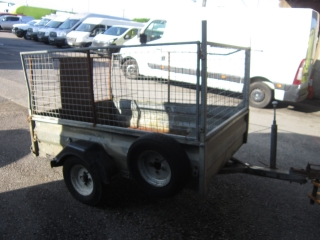 Click to view details about WESSEX SINGLE AXLE TRAILER C/W CAGED SIDES